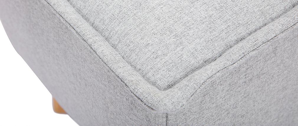 Bout de lit tissu gris clair SUKA