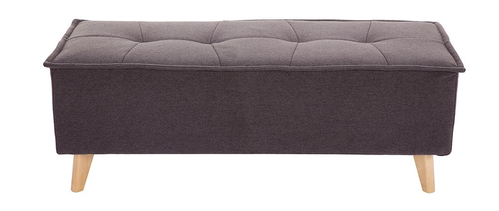 Bout de lit tissu gris foncé SUKA