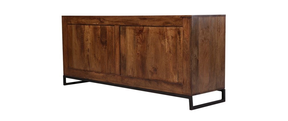 buffet 150cm bois recycl madras miliboo. Black Bedroom Furniture Sets. Home Design Ideas