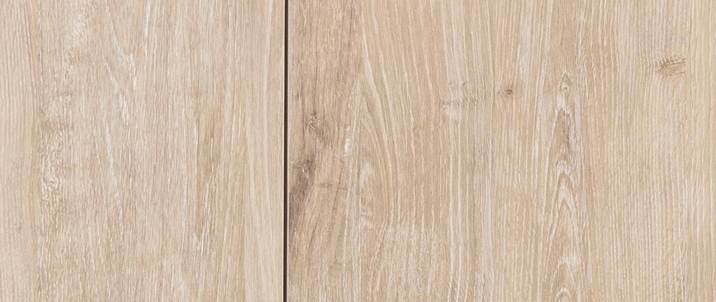 Buffet bas industriel métal et bois blanchi TRESCA