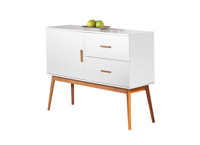 Buffet / Commode design blanc BAMBOU