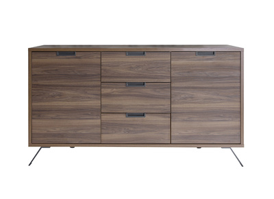 Buffet design 2 portes 3 tiroirs noyer ORIGIN