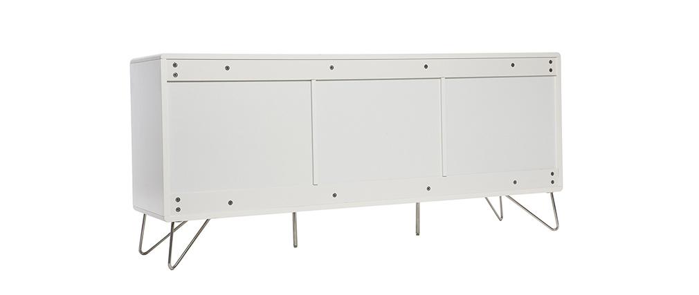 buffet design 3 portes blanc mat illia miliboo. Black Bedroom Furniture Sets. Home Design Ideas