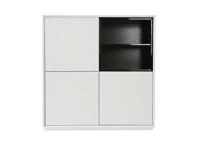 Buffet design 3 portes MDF noir et blanc ARTY