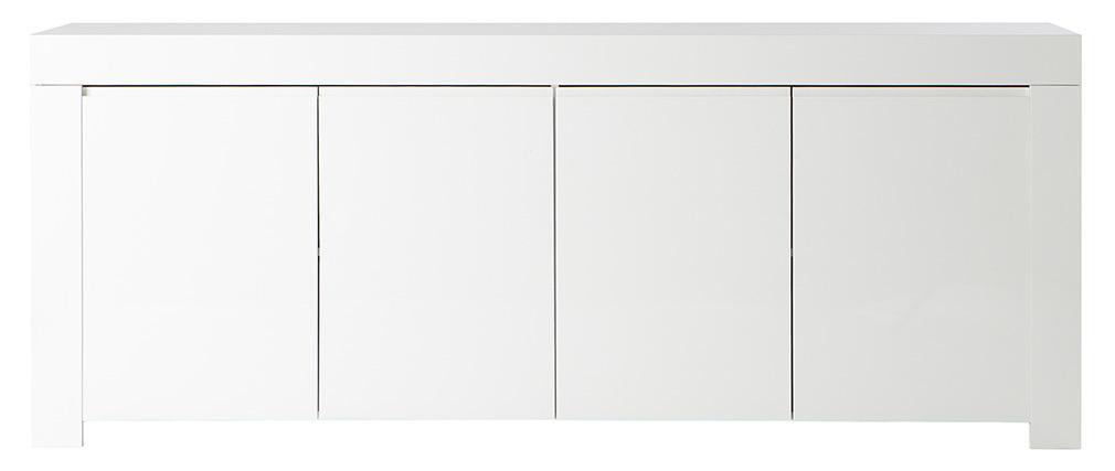 4 Portes Eria Miliboo Laqué Blanc Design Buffet sQrxCthd