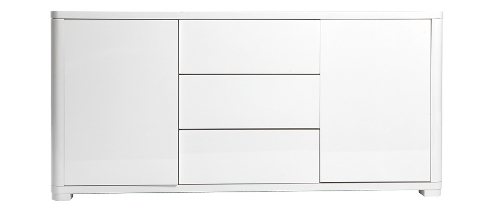 Buffet design blanc laqué brillant PAX