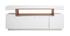 Buffet design blanc mat et niche en bois LIVO