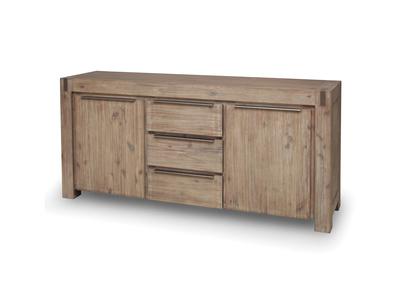 Buffet design bois massif gris MELBOURNE