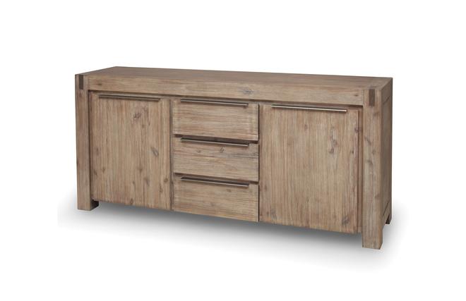 buffet design bois massif gris melbourne miliboo. Black Bedroom Furniture Sets. Home Design Ideas