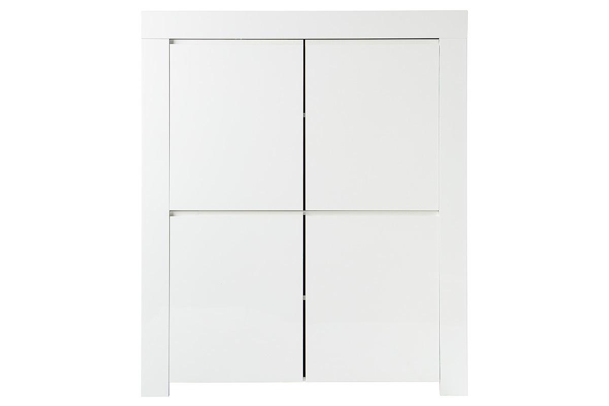 buffet design carr 4 portes laqu blanc eria soldes. Black Bedroom Furniture Sets. Home Design Ideas