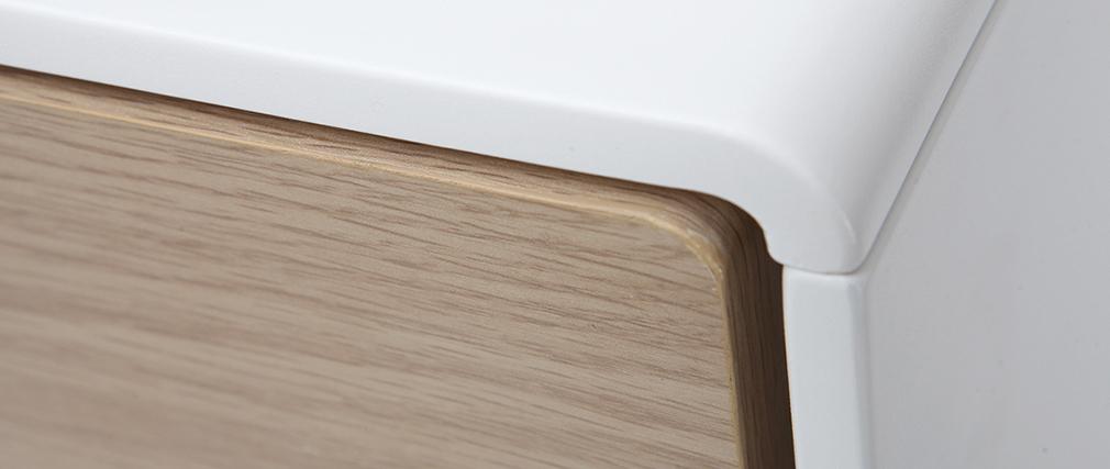 Buffet design contemporain blanc et bois ROMY