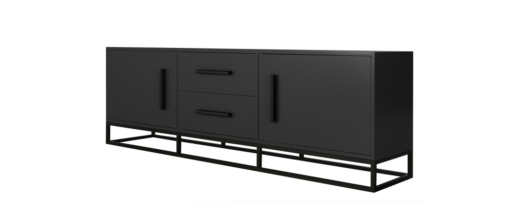 buffet design gris anthracite mat surface miliboo. Black Bedroom Furniture Sets. Home Design Ideas