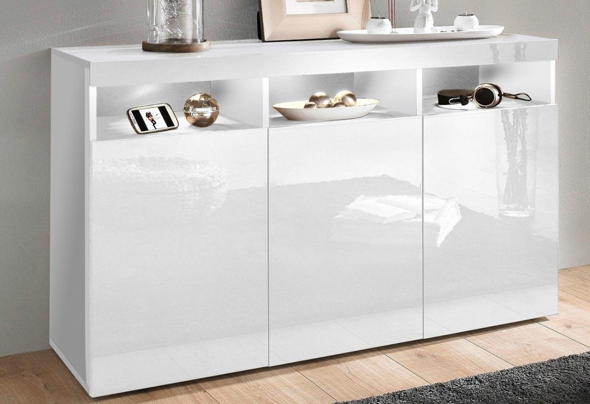 buffet design laqu blanc casey miliboo. Black Bedroom Furniture Sets. Home Design Ideas