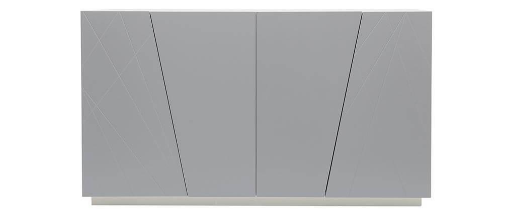 Buffet design laqué gris mat ALESSIA