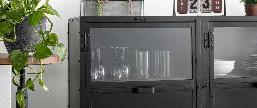 Buffet design métal noir FACTORY