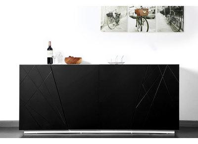 Buffet design noir ALESSIA