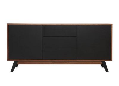 Buffet design noyer et noir mat NORMA