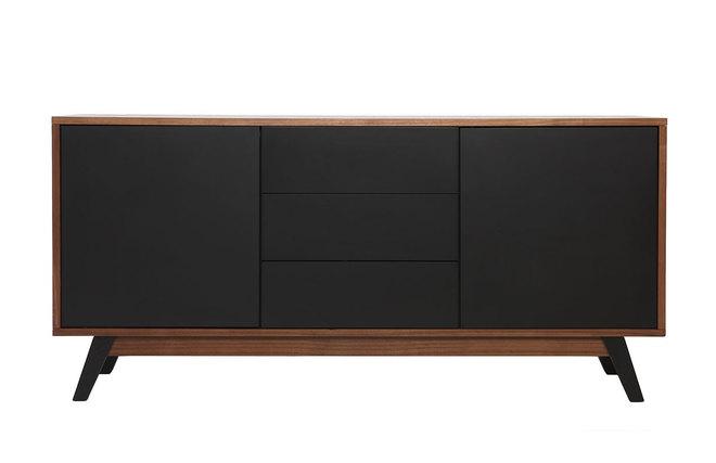 Buffet noir et bois interesting cool download by with meuble noir et bois with buffet noir et - Buffet noir mat ...
