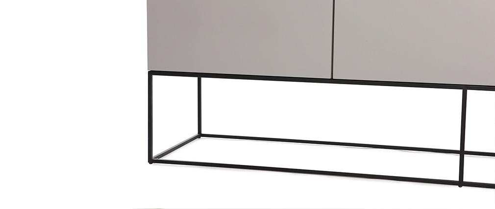Buffet design taupe mat et noir YTA