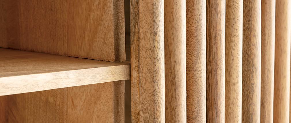 Buffet en manguier avec portes coulissantes ALBA - Miliboo & Stéphane Plaza