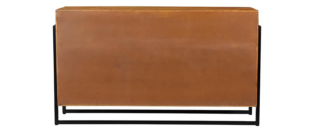 Buffet en manguier massif et métal L160 cm CHENY