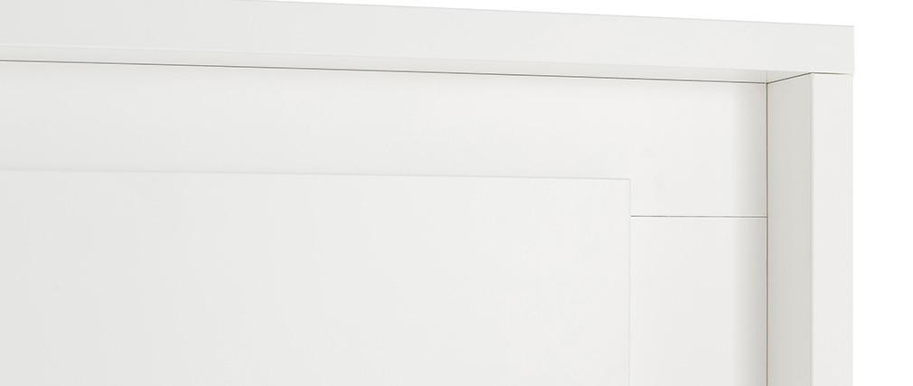 Buffet haut design 4 portes blanc LAND