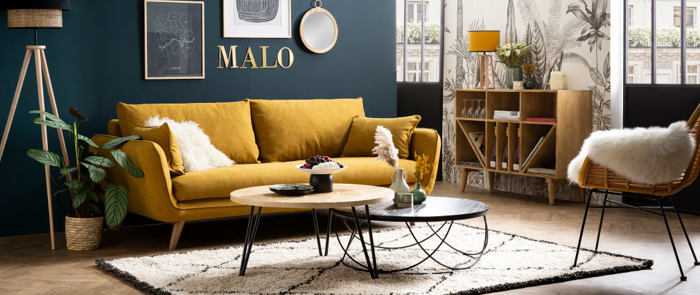 Buffet meuble de rangement bouteilles ou vinyles en manguier massif ISIDRO