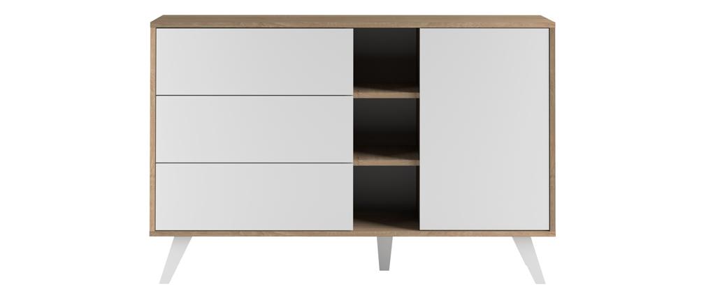Buffet scandinave bois et blanc ORIGAMI