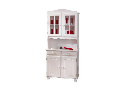 Buffet vaisselier 2 portes pin blanc MILENA