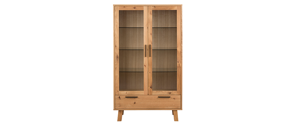 Buffet vaisselier bois design HONORE