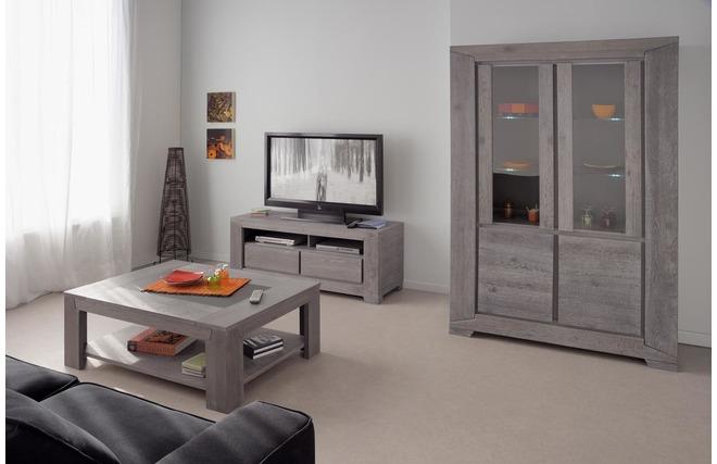 Buffet vaisselier design ch ne gris willow miliboo for Miroir des modes 427