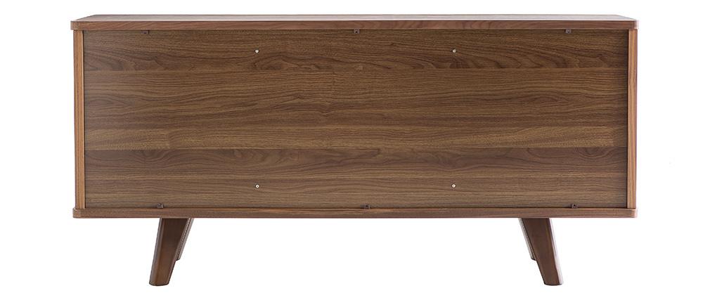Buffet vintage noyer avec portes et tiroirs L160 cm FIFTIES