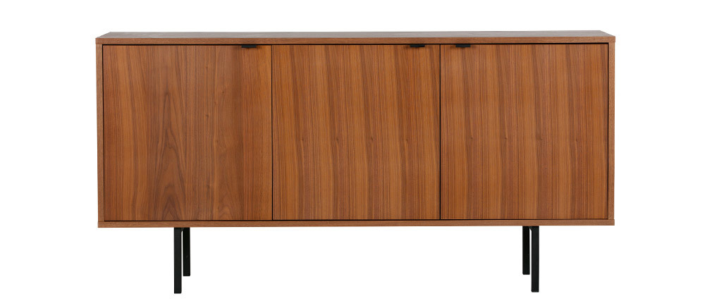 Buffet vintage placage bois chêne OMA