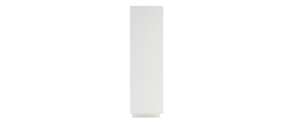 Buffet vitré design blanc et décor ciment LAND
