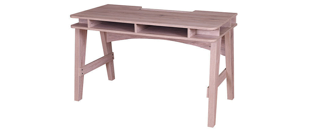 Bureau avec rangements décor bois ACE