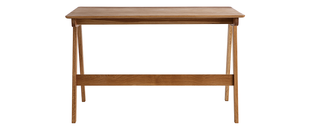 Bureau avec tiroirs en chêne massif huilé L120 cm CASSIA