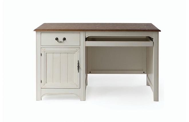 Bureau baroque bois blanc cassé gustave miliboo