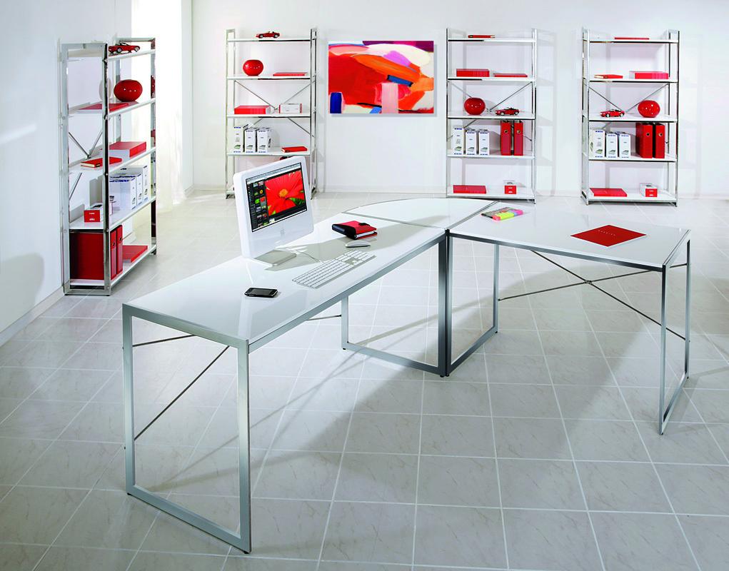 Bureau dangle design blanc AXEL  Miliboo