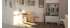 Bureau d'angle design bois clair CORNER