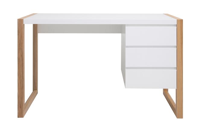 Bureau design tiroirs blanc mat armel miliboo