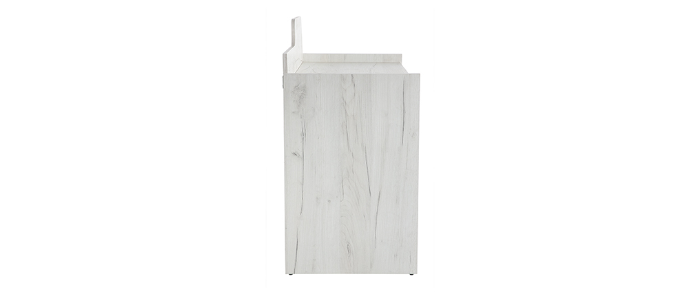 Bureau design avec rangements frêne blanc et gris TOM