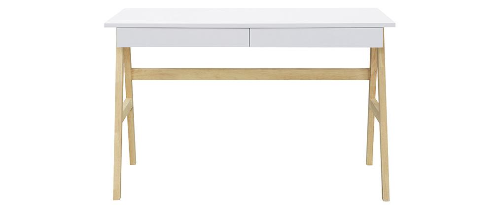Bureau design blanc et bois BROOK