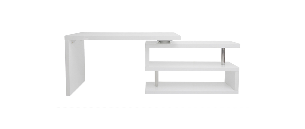 Bureau Design Blanc Laqu Amovible Max Miliboo