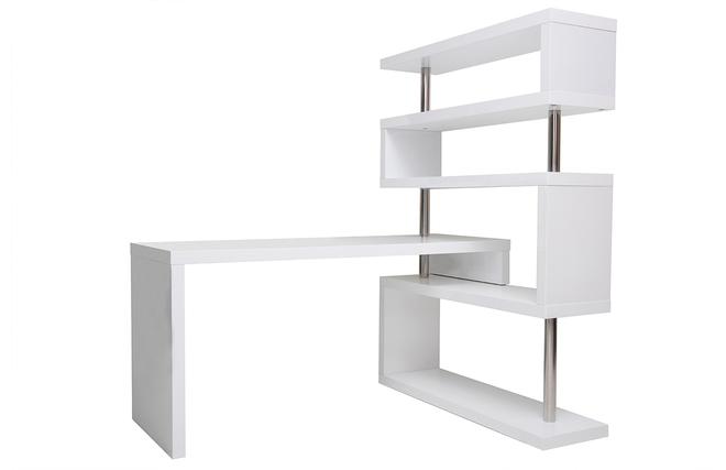 bureau blanc laqu. Black Bedroom Furniture Sets. Home Design Ideas
