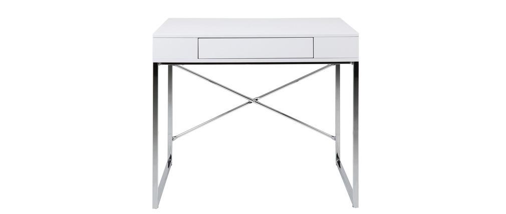 bureau design blanc laqu asturias miliboo. Black Bedroom Furniture Sets. Home Design Ideas