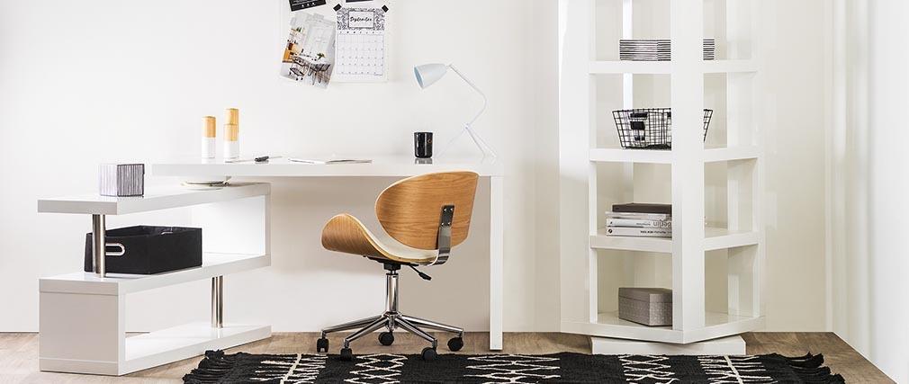 Bureau design blanc laqué modulable MAX