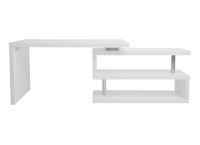 Bureau Design Blanc Laque Modulable Max