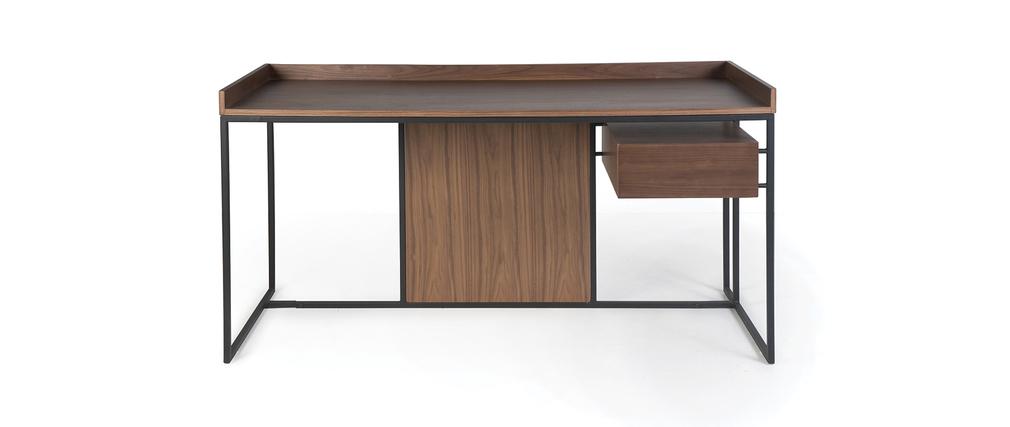 bureau design bois et m tal karo miliboo. Black Bedroom Furniture Sets. Home Design Ideas
