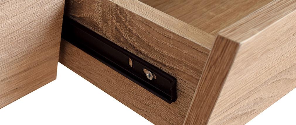 Bureau design bois et noir avec tiroir NOTHOMB
