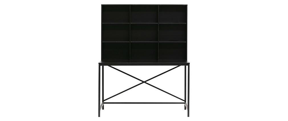Bureau design en bois et métal noir SCRIB